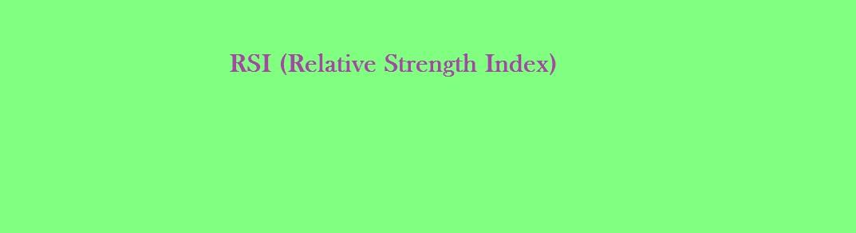 RSI relative strength index