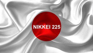 Indice Nikkei o Japan 225 e bandiera del Giappone