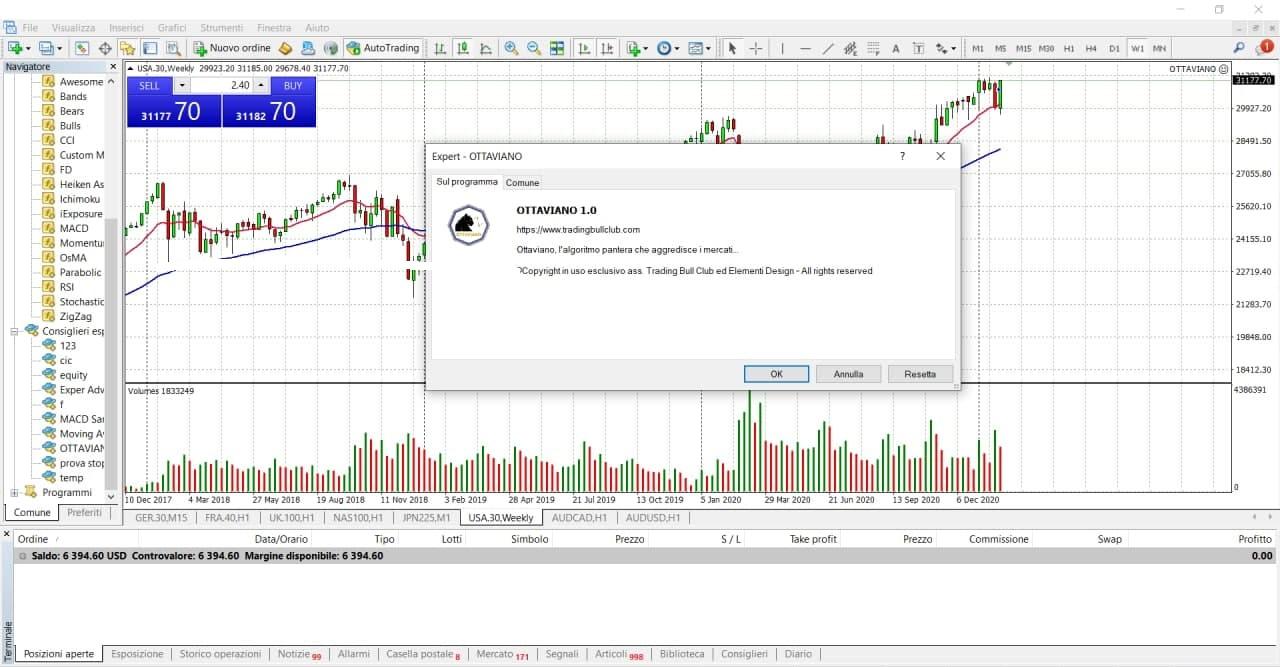 Ottaviano, operatività automatica sui mercati finanziari